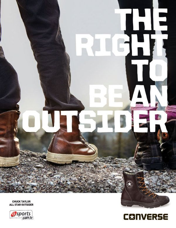 Converse Outsiders Print Ad. by Mert Özkaner, via Behance
