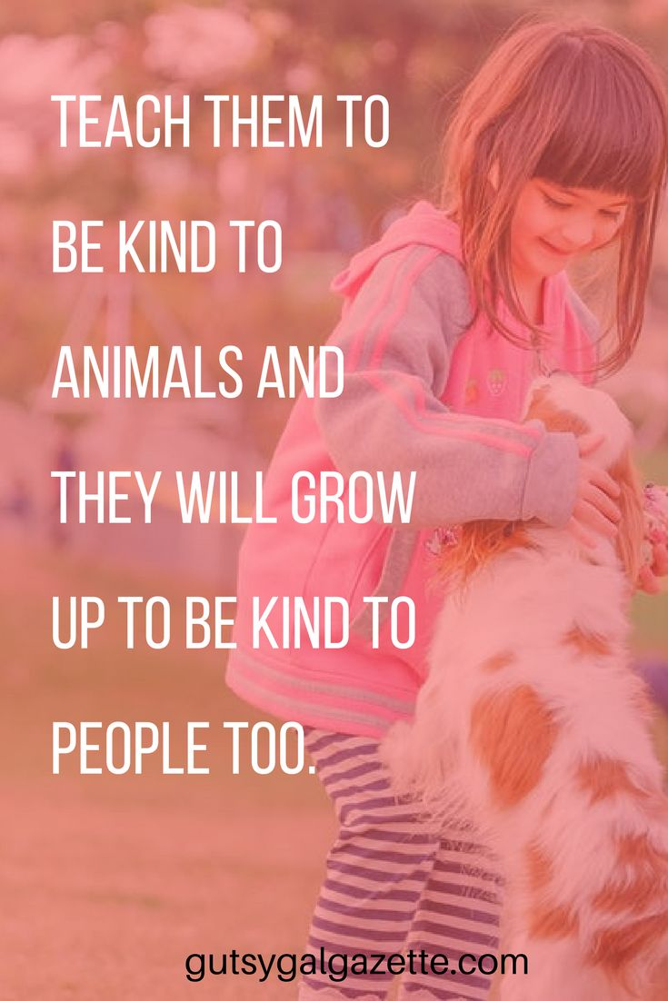 Teach them to be kind to animals and they will grow up to be kind to people too. #quote #inspirationalquotes #inspirational