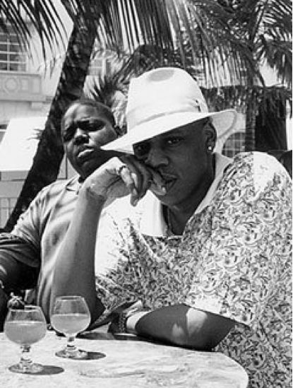 Jay Z and Biggie in a timeless pic, two of the gr8s! One before his time, both epic.