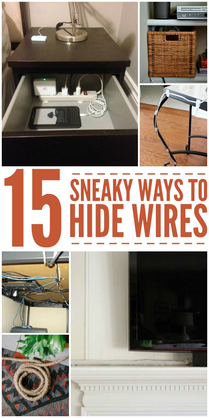 Get rid of the ugly wires around the house with these wire hiding hacks. If you know how much I hate cords, you'll know how much I love these ideas!