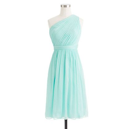 J. Crew: Kylie dress in crinkle chiffon. Color: Sunwashed Aqua.