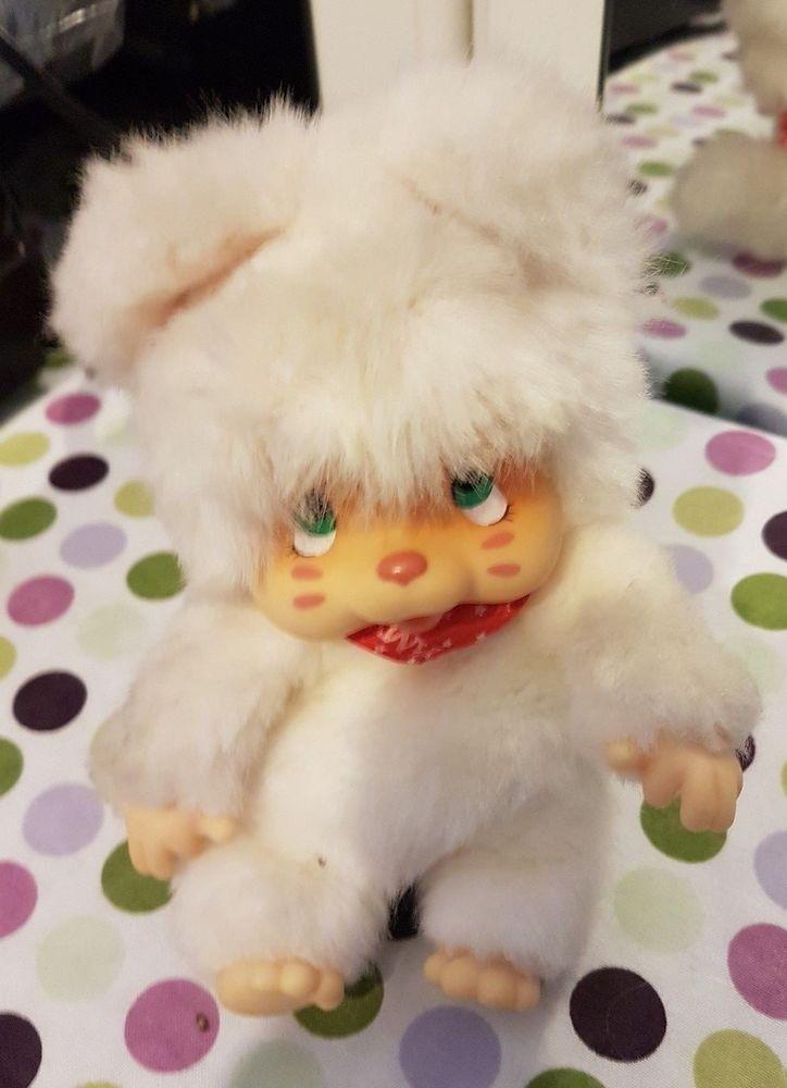 Nyamy monchichi cat kitten white