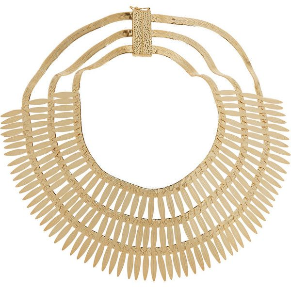 Rosantica Tribu gold-tone necklace ($336) ❤ liked on Polyvore featuring jewelry, necklaces, gold, rosantica, magnet jewelry, magnetic necklace, gold colored necklace y goldtone jewelry