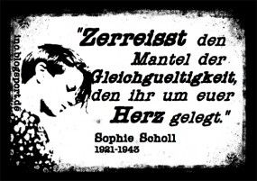 Aufkleber INO-Soli 20 Stück - Sophie Scholl Zitat