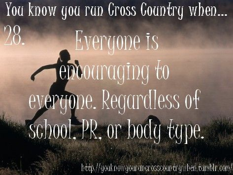 You Know You Run Cross Country When...