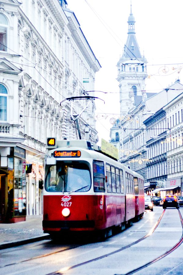 Vienna Tram in Waehring, Austria.I want to go see this place one day.Please check out my website thanks. www.photopix.co.nz