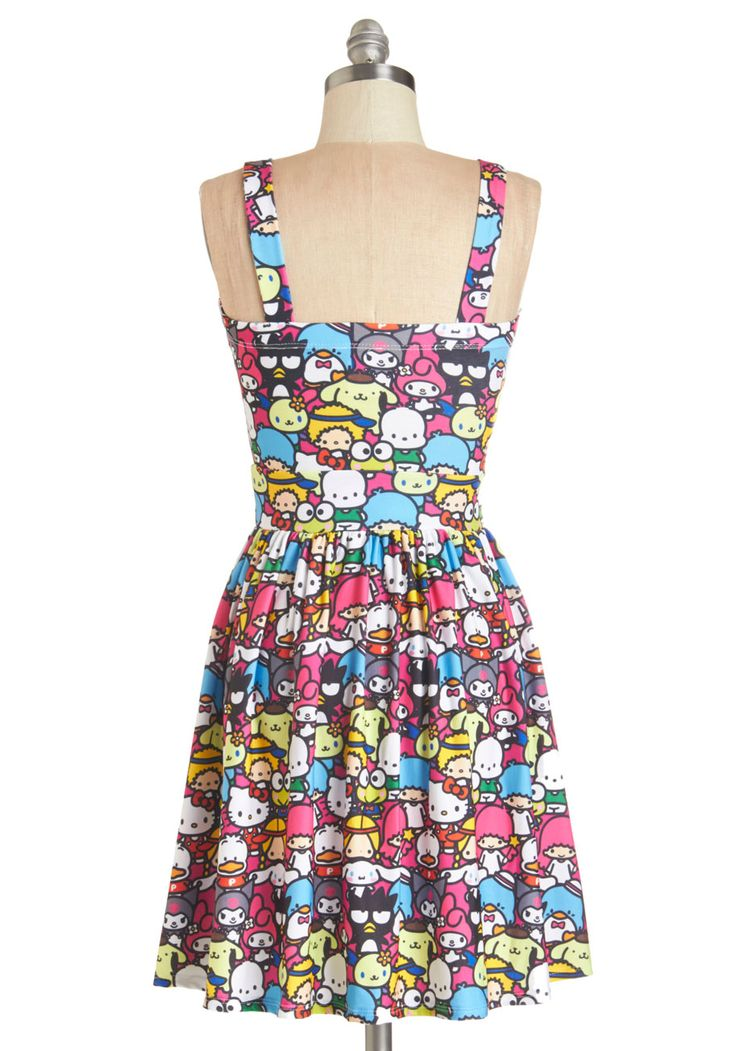 Trip to Kawaii Dress. For an adorable airport ensemble, slip into this sleeveless printed dress!  #modcloth