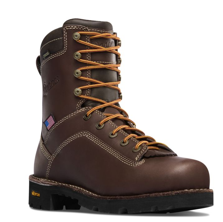 Danner QUARRY USA BROWN Plain Toe Boots