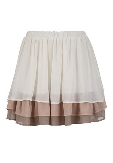 Tiered Neutral Skirt. cute.