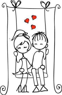 boy and girl on swing xoxo
