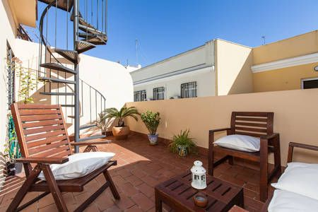 Check out this awesome listing on Airbnb: Ático junto al Puente de Triana in Seville