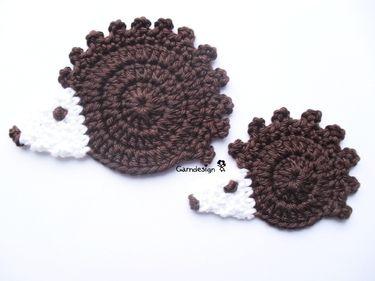 Hedgehog applique pattern