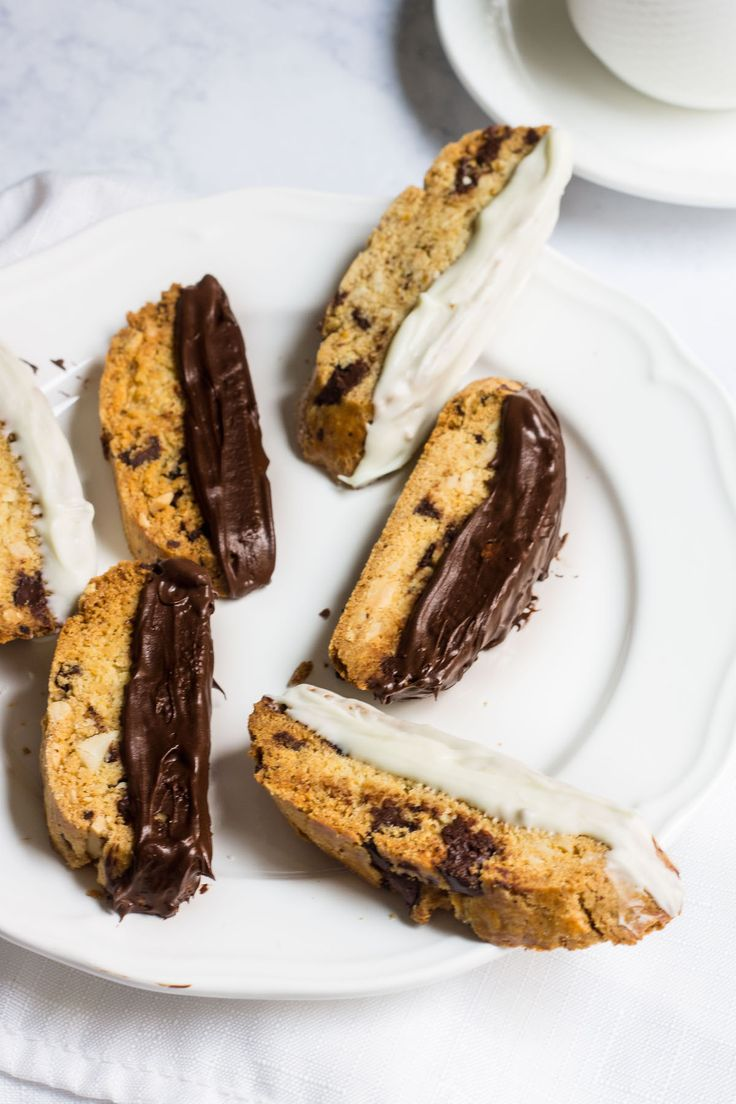 Biscotti: a crisp almond cookie filled with dark chocolate, orange ...