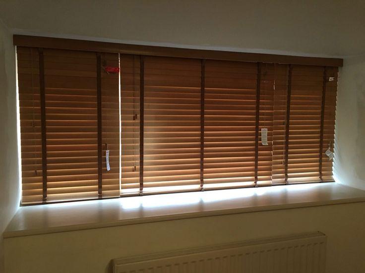 Wooden Venetian blinds for a customer, Warrington. www.blindswarrington.co.uk