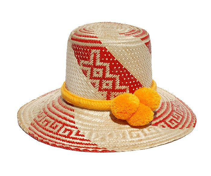 "The Wayuu Hat is 100% handcrafted out of the fibers extracted from the ""Palma de Iraca"" Plant. This weaving tradition originates from the Wayuu indigenous tribe and is currently practiced by artisans"