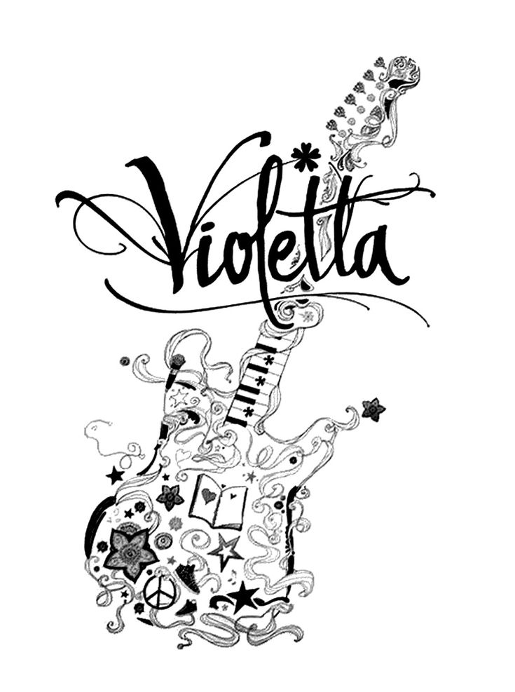 32 best images about violetta on pinterest logos other and colors - Dessin a imprimer violetta ...