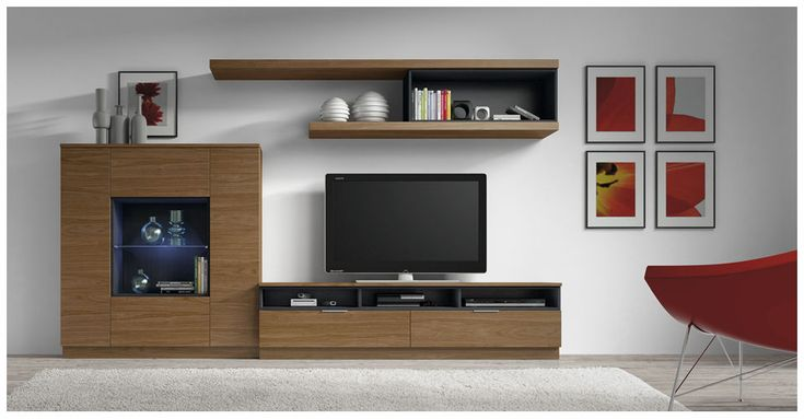 1000 images about mueble tv on pinterest grey sofas for Muebles para tv modernos