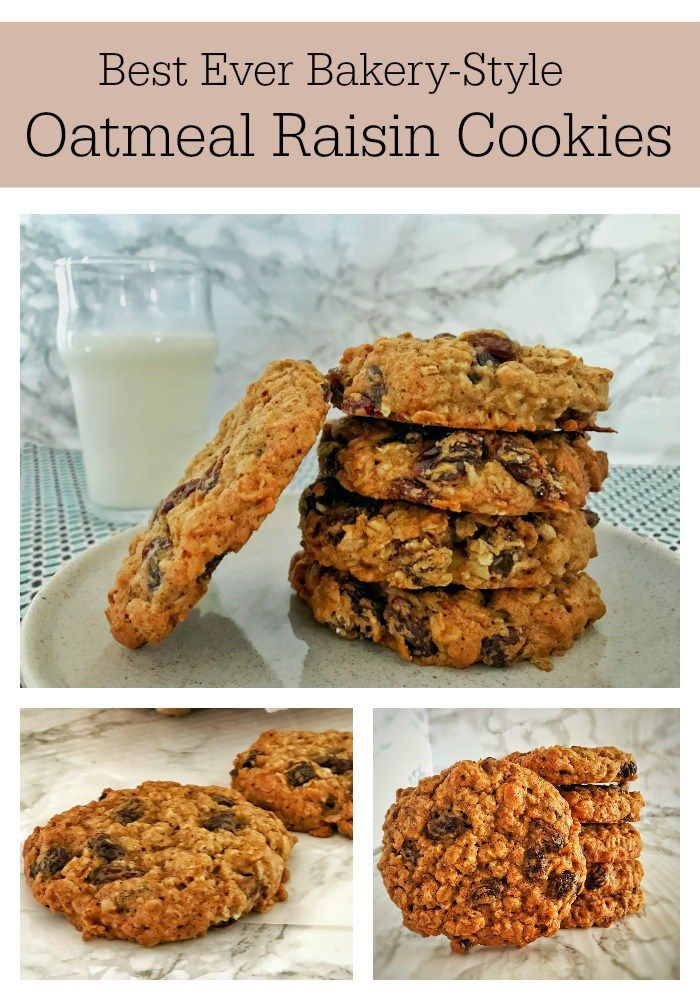 Big, delicious, bakery-style Oatmeal Raisin Cookies that are soft yet chewy, loaded with plump raisins, warm spices & a touch of molasses.
