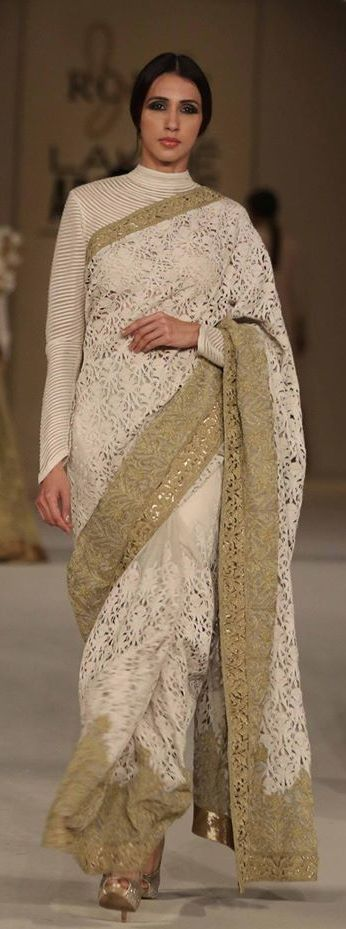 Pinterest @Littlehub  || Six yard- The Saree ❤•。*゚||  Rohit bal saree . In love with the blouse
