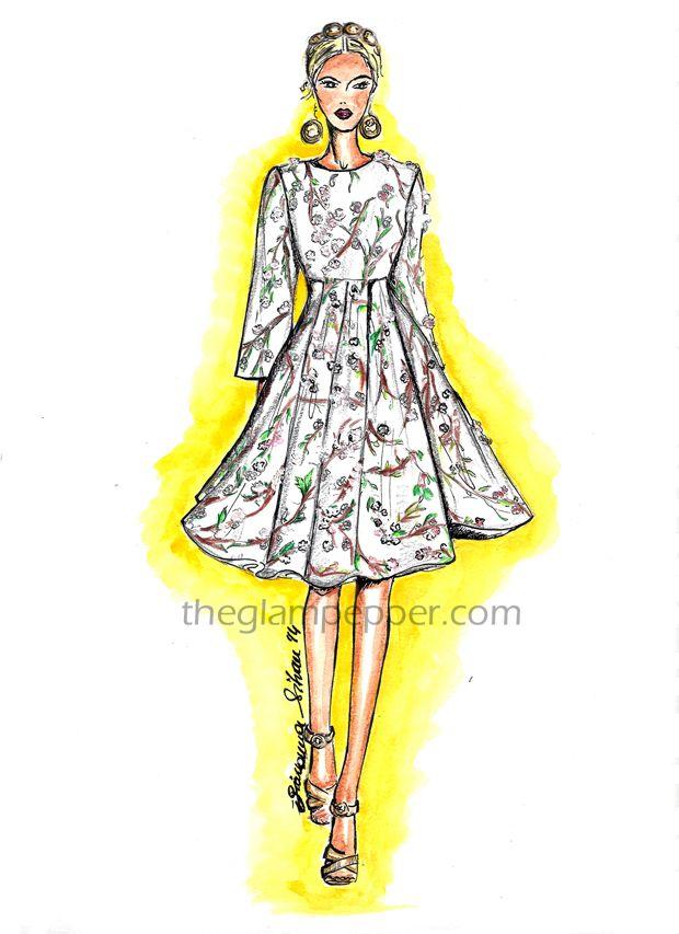Dolce & Gabban, Spring/Summer 2014, fashion illustration, sketches