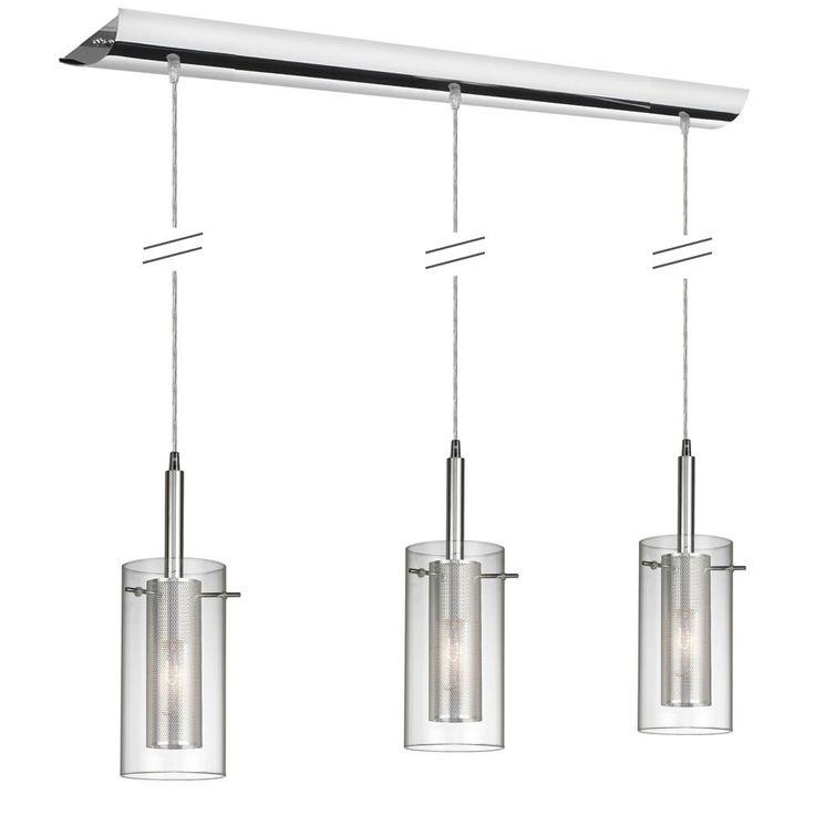 Dainolite Lighting 30963-CM 3 Light Pendant-Clear Glass Island Light   Lowe's Canada