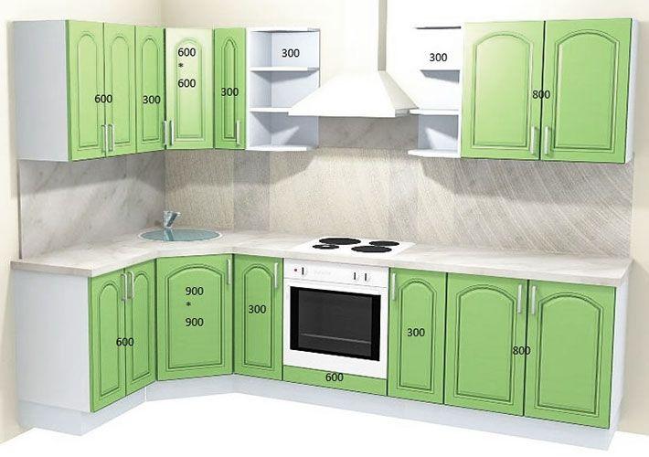 Угловой кухонный гарнитур Настя С8