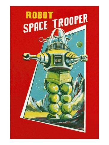 Robot Space Trooper Premium Poster at Art.com - Robby the Robot from Forbidden Planet movie.