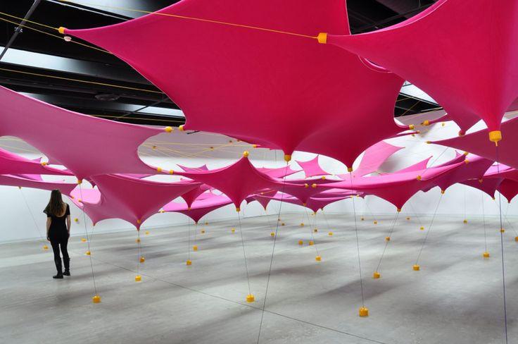 Tensile Fleece Installations by R Justin Stewart #art