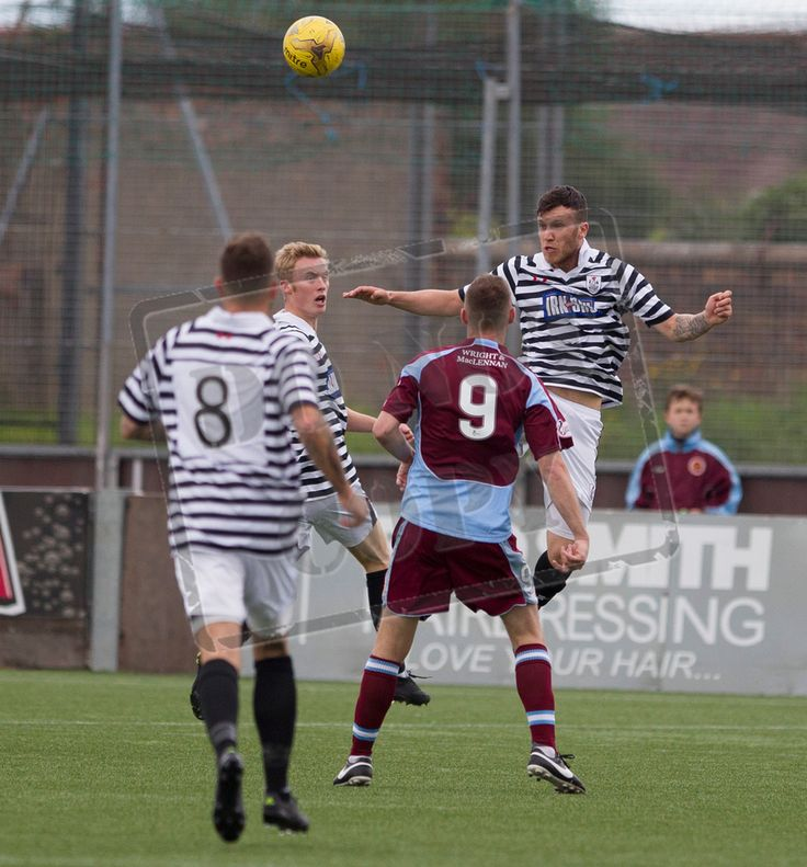 Queen's Park's Adam Cummins heads the ball during the Ladbrokes League One game between Stenhousemuir and Queen's Park