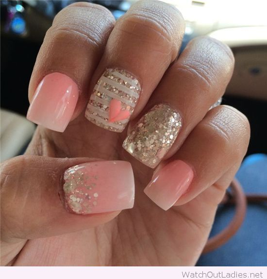 Best 25 pink white nails ideas on pinterest pretty nails nail light pink white and silver glitter nails prinsesfo Choice Image