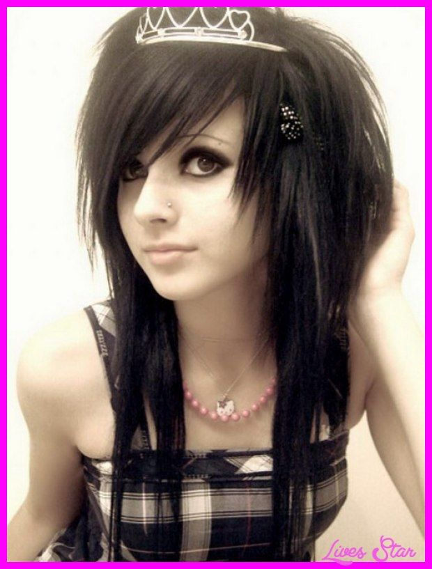 cool Emo long haircuts with side bangs