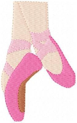 INSTANT DOWNLOAD Ballet Pointe Shoes Slippers Machine Embroidery Single Design
