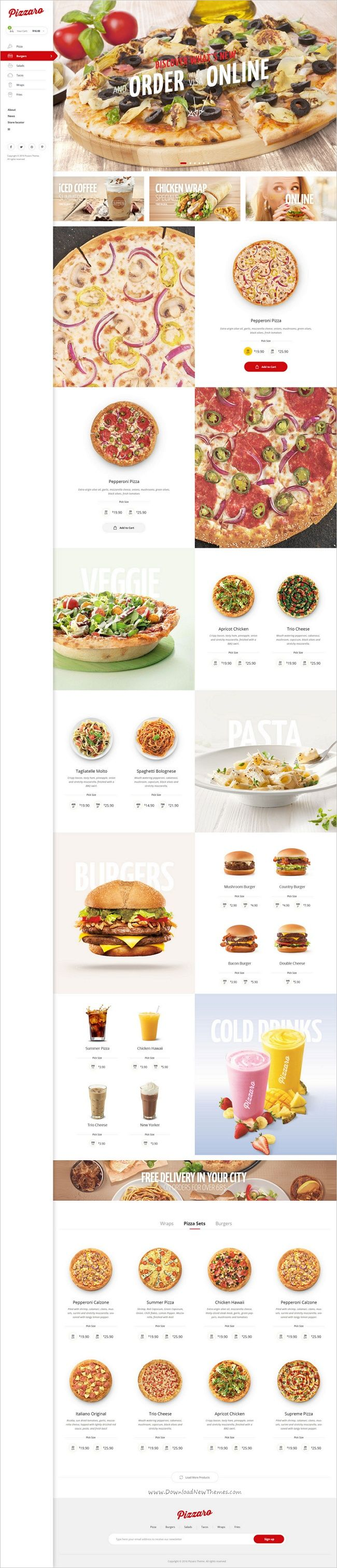 Pizzaro is modern and elegant design #responsive 7in1 #WordPress theme for fast #food and restaurant websites download now➩ https://themeforest.net/item/pizzaro-food-online-ordering-woocommerce-theme/19209143?ref=Datasata