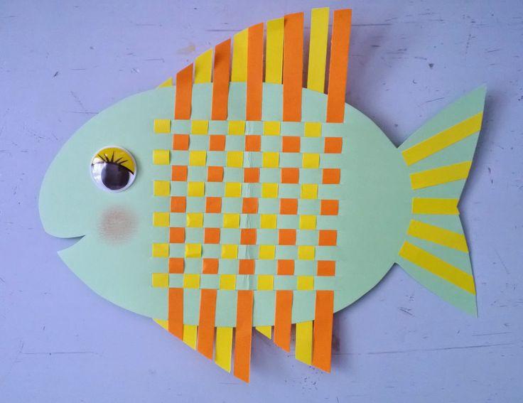 Anna idean kiertää!: Kala -paperikudontatyö