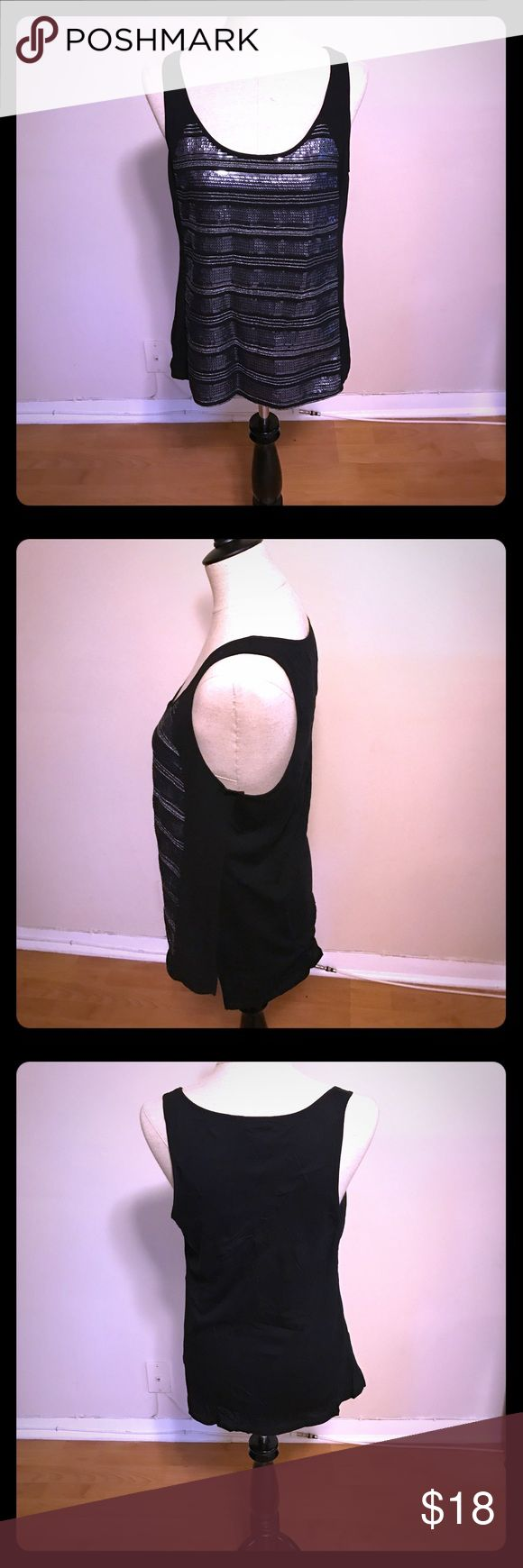 Express Sequin Tank Top! New with Tags Sliver and Gold Sequin Tank Top! Express New with Tags Express Tops Tank Tops