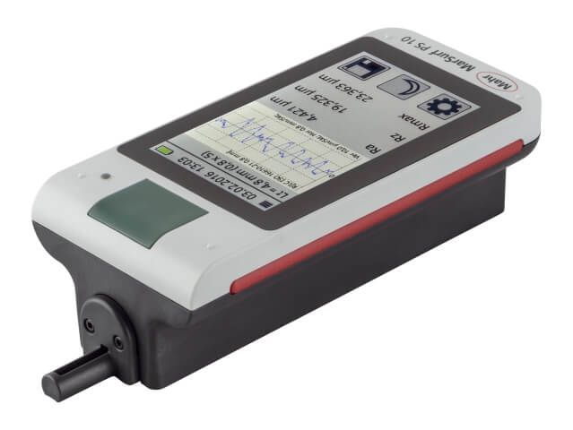 Mobile Surface Roughness Measuring Instrument MarSurf PS10 Set intuitive and simple to use