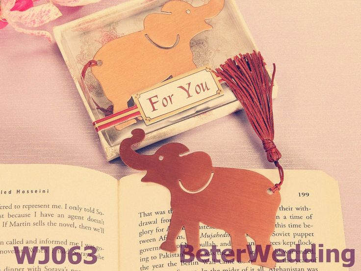 Wholesale Alluring Elephant BookMark Favors party gifts or wedding favors BETER-WJ063 #wedding #weddings #weddinggifts