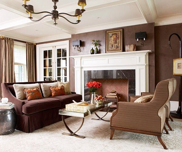 What Color To Paint Walls With Brown Furniture: Great Wall Color.