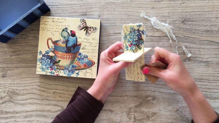 kosarbolt.hu ~ Teás doboz bronz kiegészítőkkel díszítve ~ Tea box