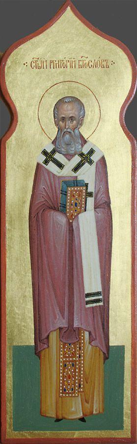 Святитель Григорий Богослов, икона для столбика к иконостасу ...