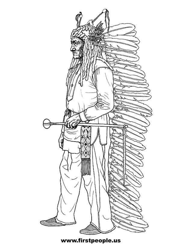 Native Americans Clipart Black And White 20 best Colorin...