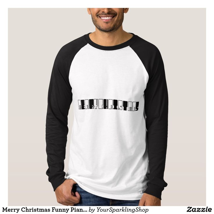 Merry Christmas Funny Piano Keys Typography #Shirt #christmas #pianist