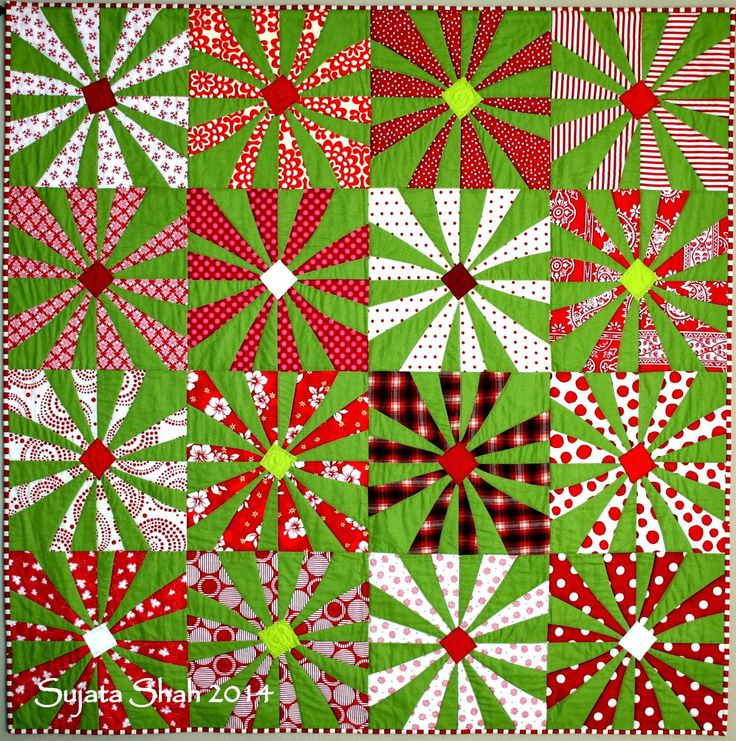 What a beautiful Christmas quilt....