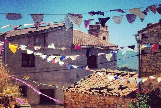 El Collado-Alpuente-Valencia vista parcial de la aldea