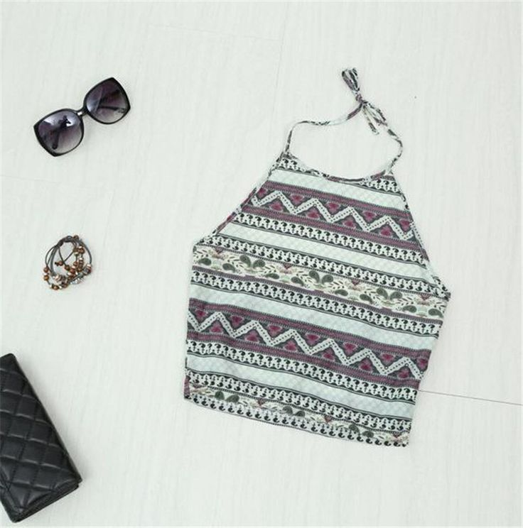 ❥ Give Me A Summer To Remember. Material: Polyester Fabric Type: Broadcloth Tops Type: Camis Decoration: None Clothing Length: Short Pattern Type: Striped Brand Name: Cropped Feminino Model Number: A2