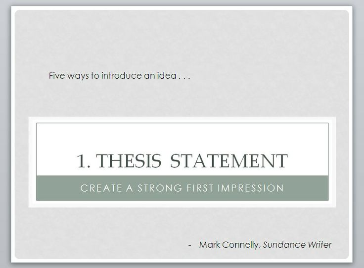 Gandhi thesis statements