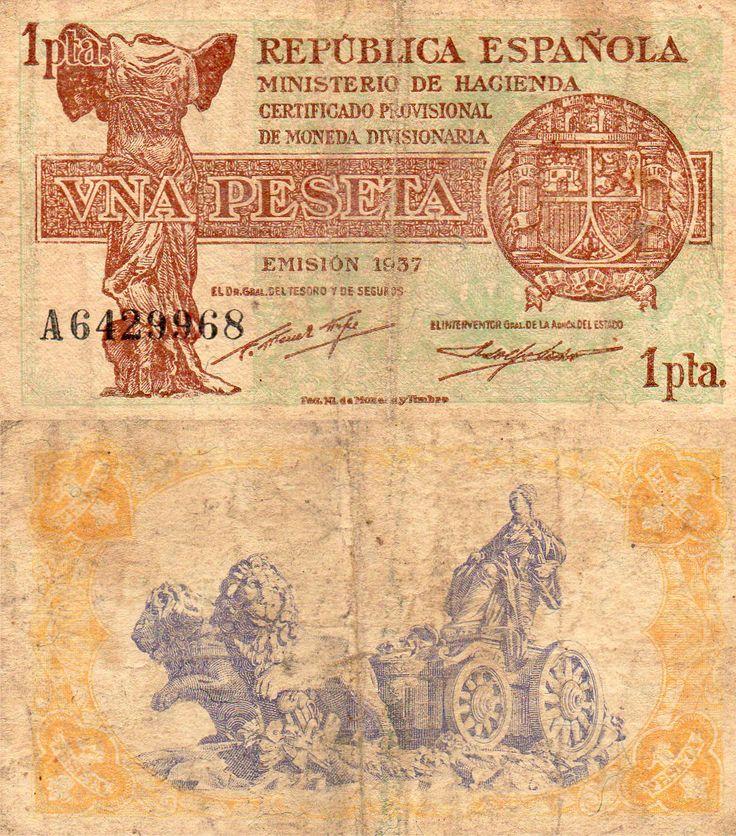 1937, 1 peseta II República