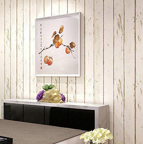 Blu Mediterraneo orientale legno retro camera da letto soggiorno TV sfondo muro carta da parati adesivo-legato panno striscia tappezzeria , beige stripes: Amazon.it: Casa e cucina