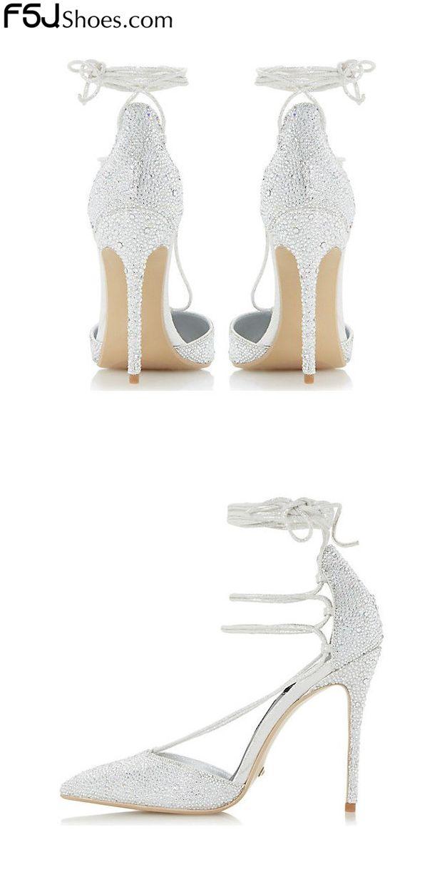 0fb697b0716 Women s Wedding Shoes Winter Wedding Ideas Silver Rhinestone Stiletto Heels  Pointy Toe Ankle Strap Sandals Chic Fashion Wedding Dresses Shoes New Year  Party ...