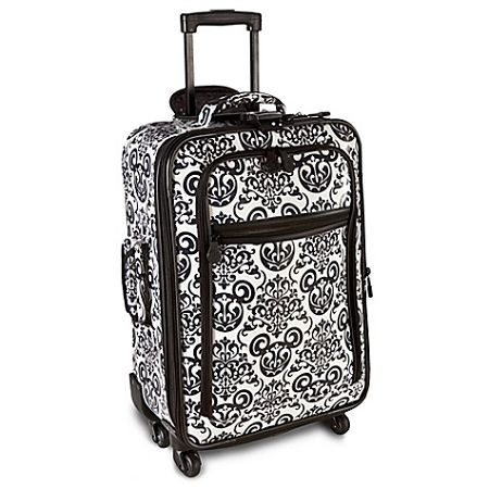 Disney Luggage - Rolling Black & White Mickey Mouse Suitcase -- 22''